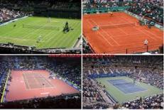 دانلود راهنمای مسابقه در زمین های خاک رس ، چمن و سخت تنیس